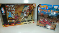MICHAEL JORDAN LOT THEN & NOW HOTWHEEL RADICAL RIDE CHICAGO Bulls Set X2 NEW