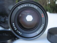 Carl Zeiss Planar 50mm F/1.4 T* Lens for Contax Great Condition