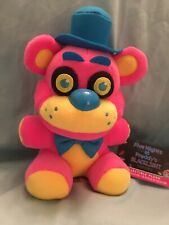 Five Nights At Freddy's Black Light Series Plush! Pink and Yellow Freddy!