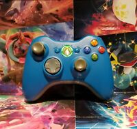 Xbox 360 Blue Wireless Controller Genuine OEM Microsoft TESTED GREAT COLOR
