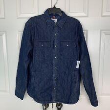 NWT OLD NAVY Men's 100% Cotton Blue Jacket Size Medium