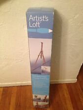 "Artist's Loft field sketch easel, 34"" x 4.25"" x 4"", foldable / adjustable design"