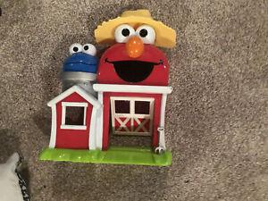 Sesame Street Farm with Cookie Monster Elmo Playset - Rare