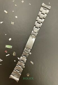 """Rolex Date Air King Mens Oyster Bracelet 7835 19mm SS Band """"357"""" Ends Ref: 1501"""