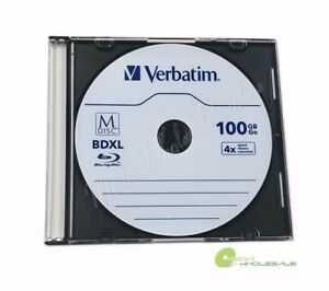 M DISC VERBATIM BDXL 100GB 4X Branded Logo 10 pk Disc - Jewel Case