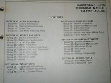 John Deere Technical Manual for Harvesting Units TM-1295