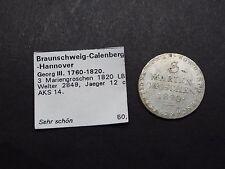 3 Mariengroschen 1820 Braunschweig-Calenberg-Hannover (28517)