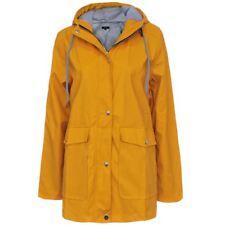 New Womens PU Coated Shower Jacket Anorak Hooded Ladies Festival Rain Mac Coat