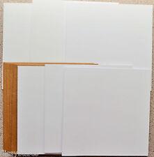 A6 en relieve y tarjetas en Blanco Llano C6 Sobres Martillo Marfil Gatefold para invita a