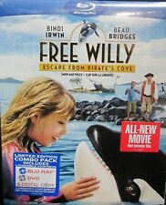 Free Willy: Escape from Pirates Cove BLU-RAY,DVD,DIGITAL COMBO,NEW! BEAU BRIDGES