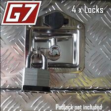 4x KEY & PADLOCK Style Folding T-Handle Locks  Tool Box Ute Trailer 4