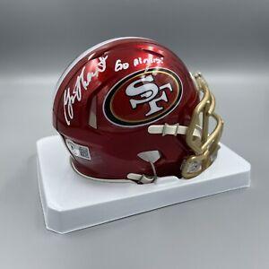 Garrison Hearst Signed Autographed SF 49ers FLASH Mini Helmet Beckett BAS Insc