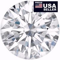 Round Moissanite white,1 to 5 Carat, 100% Genuine, Loose Moissanite diamond