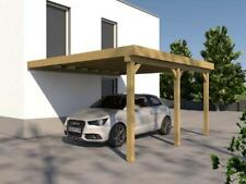 Anlehncarport Carport EIFEL V 400x500cm Bausatz Anbaucarport + Dacheindeckung