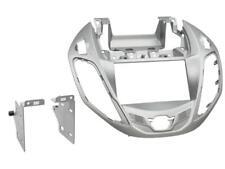 für FORD B-Max JK8   Auto Radio Blende Einbau Rahmen Doppel-DIN 2-DIN silber