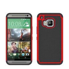 Housses et coques anti-chocs rouge simples en plastique rigide pour téléphone mobile et assistant personnel (PDA)