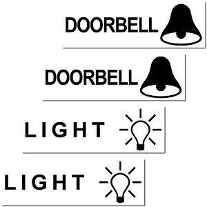4 Aufkleber LIGHT DOORBELL Sticker bell door postbox letterbox mailbox Briefpost