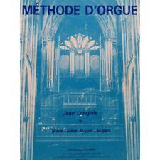 LANGLAIS Jean Méthode d'Orgue 1984 partition sheet music score