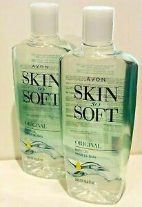 AVON SKIN SO SOFT ORIGINAL  BATH OIL  2 BOTTLES 16.9  FL OZ EACH BOTTLE