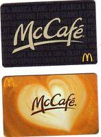 McDONALD McCAFE Limited Ed COLLECTIBLE Gift Card No Value bilingual