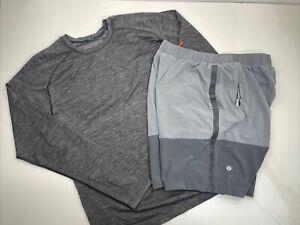 Lululemon Mens Shorts Shirt Bundle Metal Vent Tech Please Read Description