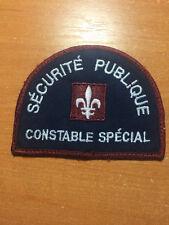 PATCH POLICE CANADA - SECURITE PUBLIQUE CONSTABLE SPECIAL - ORIGINAL!