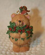 Christmas Hallmark Ornament Forever Friends Bear with Bird & Holly 1995