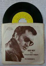 TEX RUBINOWITZ Bad Boy b/w Feelin' Right Tonight Orig RIPSAW Rockabilly PS 45