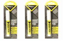 3x Tile Grout Whitening Pen to Restore White Kitchen Shower Bathroom Paint