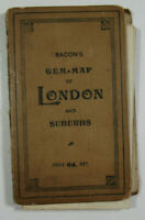 1904 Old Antique Bacon's Gem Of London and Suburbs With Street Index