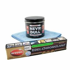 Nevr Dull Polierwatte + 75 ml Edel Chrom Metall Politur Autosol + Mikrofasertuch