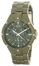 Guess Mens Green Dial Green Stainless Steel Multifunction Watch G11606G