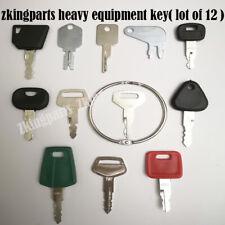 12PCS Heavy Equipment Replacement Key Ignition Key Starter Key For Komatsu Case