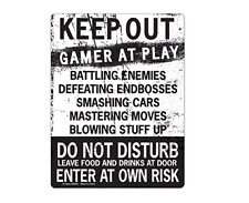 Teen Bedroom Decor Gifts For Gamers Boys Girls Tin Signs Wall Door Novellty NEW