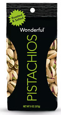 Wonderful Roasted & Salted Pistachios 8 oz $9.87  FREE SHIPPING