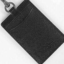 COACH F31657 ID QB/BLACK  LANYARD Sport calf leather MFSRP $98