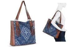 The Sak Montara Leather Tote Bag Handbag Blue Diamond Womens Shoulder Bag Was199