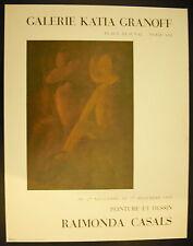 Affiche exposition Peintures de Raimonda Casals Galerie Katia Granoff 1969