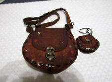 Vintage Leather Satchel Purse with Coin Purse!