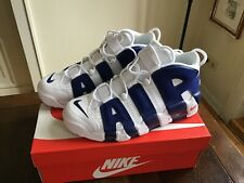NIKE Air more uptempo 96 scatto US 10,5 44,5 White Deep Royal Blue