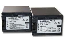 2x BATERIA 3300mAh PARA Sony DCR-SR37 / DCR-SR37E / DCR-SR38