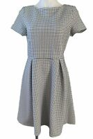Banana Republic Dress Size 8 Black and White Checked Size 8 Fit And Flare NEW