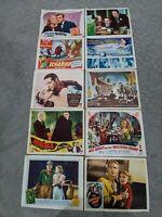 "Lot of 10 Classic 11"" x 14"" Lobby cards 1935-1953 Bogart, Dracula, Monroe, MORE!"
