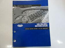 1995 1999 2000 2001 2004 Buell Carrocería Partes Catalog Manual Fábrica Nuevo