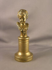 Antique Miniature European Bronze Bust of a Young Girl Clodion?