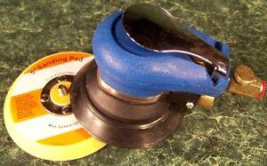 "5"" AIR PALM RANDOM ORBITAL Finishing Sander Hook and Loop Pad Swirl Free Finish"