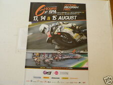 2010 PROGRAMME 6 HOURS SPA-FRANCORCHAMPS NO 99 YAMAHA COVER
