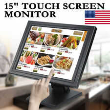 "15"" TFT-LCD Touch Screen Monitor POS Touchscreen Monitor Retail Kiosk Restaurant"