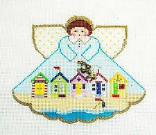 CABANA BEACH Angel & Charms handpainted Needlepoint Ornament by Painted Pony