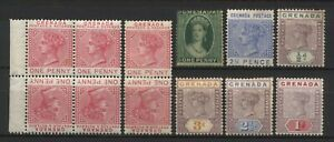 Grenada Collection 12 QV Stamps Unused Mounted